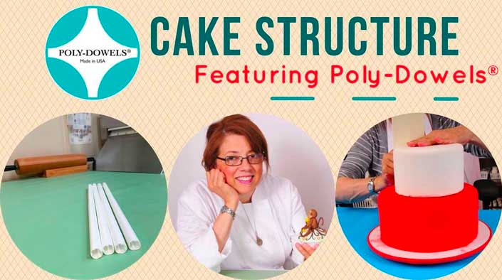 Cake Structure featuring Official Poly-Dowels® | Plastic Cake Dowels Internal Cake Support Made in the USA