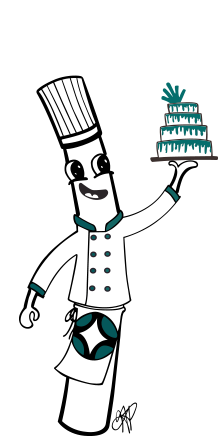 Introducing Chef Poly! The Official Poly-Dowels Mascot | Plastic Cake Dowels Made in the USA