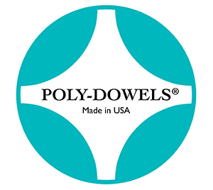 Official Poly-Dowels® Logo | Plastic Cake Dowels Made in the USA