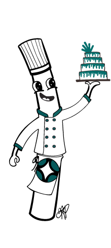 """Introducing Chef Poly! The Official Poly-Dowels Mascot 